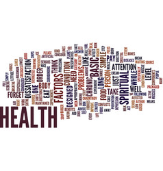Your health text background word cloud concept vector