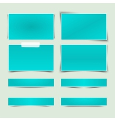Set of banners with different shadows vector image