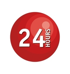 24 hours button icon vector image