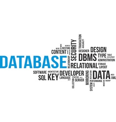 Word cloud database vector