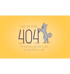 404 error page not found cartoon design vector image