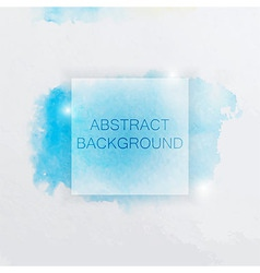 Abstract watercolor background with blue splash vector