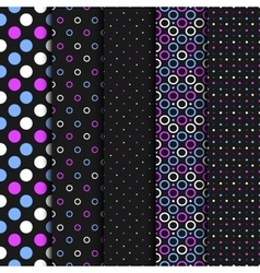 Seamless patterns with circles and dots vector image