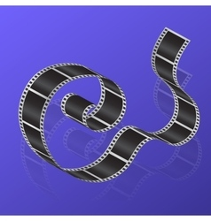 Cine-film on a gradient background vector