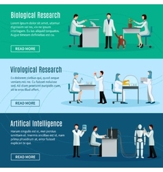Scientist horizontal banners vector