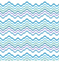 Blue wave line seamless pattern vector