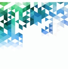 Abstract technology background with color triangle vector image