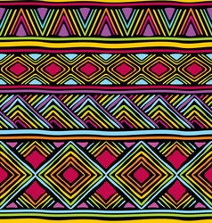 Afrikan line pattern vector