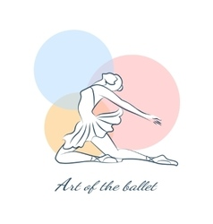 Art of the ballet logo with ballerina vector image