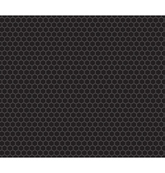 Black honeycomb seamless pattern vector