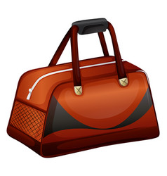Bowling bag in brown color vector