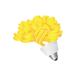 Brain energy saving lightbulb vector
