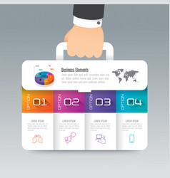 Business suitcase infographics design vector