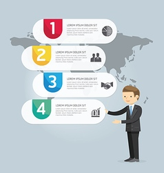 Businessman Presentation Infographic design vector image vector image