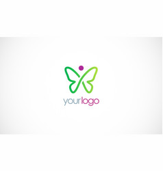 butterfly beauty logo vector image vector image