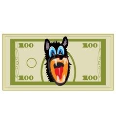 Cartoon on banknote vector image vector image