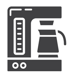 coffee maker solid icon kitchen and appliance vector image vector image