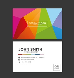 Colorful Creative Business Card vector image vector image