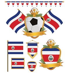 Costa rica flags vector