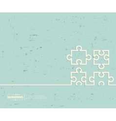Creative puzzle Art template vector image vector image