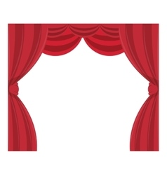 Curtain cinema isolated icon vector