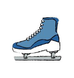 Ice roller skate sport equipment image vector