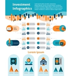 Investment Infographics Set vector image vector image