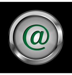 metal button vector image