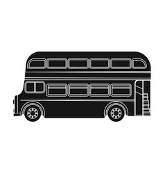 Passenger bus single icon in black style for vector
