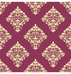 Purple and beige floral arabesque pattern vector