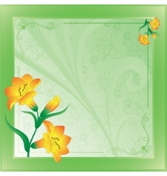 Scope with lilies on green vector
