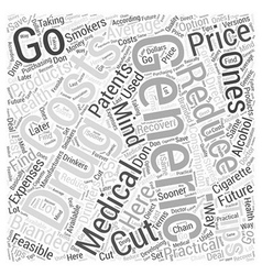 Sm saving money on medications word cloud concept vector