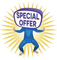 Special offer man vector