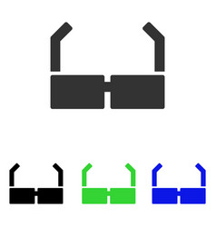 Spectacles flat icon vector