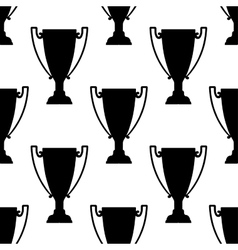 Sport trophy silhouettes seamless pattern vector image vector image