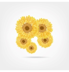 Sunflowers sketch for your design vector