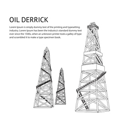 Oil rig backdrop vector