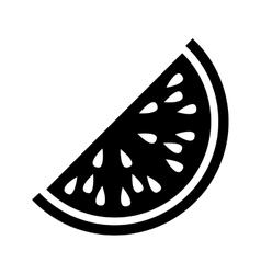 Silhouette monochrome with slice watermelon vector