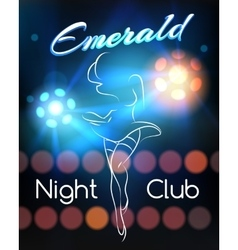 Night club poster template vector