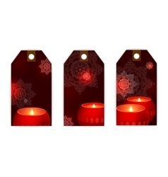 tag candles flame dark vector image