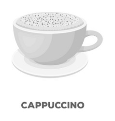 Cup of cappuccinodifferent types of coffee single vector