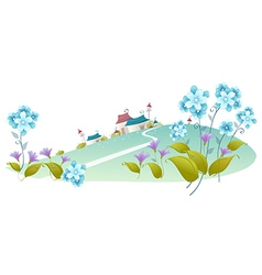 House green landscape vector