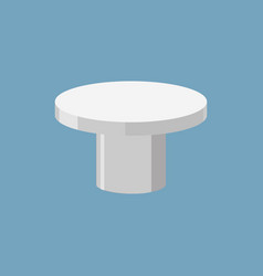Silver pedestal isolated stand for rewarding on vector