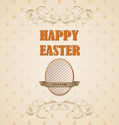 Happy easter retro card vector