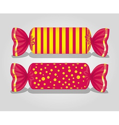 Rectangular candies lines and dots on gray backgro vector