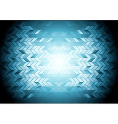 Hi-tech geometric blue background vector