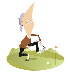 Angry golfer vector