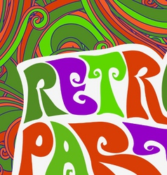 Retro party pattern vector