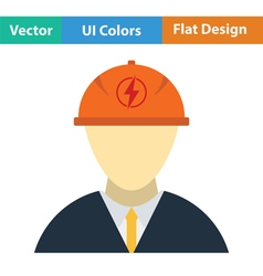 Electric engineer icon vector