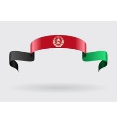 Afghan flag background vector image
